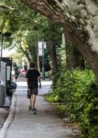 Skate sur les trottoirs